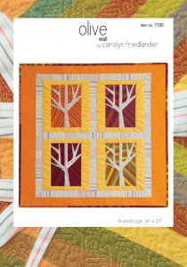 olive wall quilt pattern front cover
