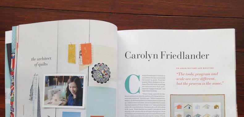 UPPERCASE features Carolyn Friedlander