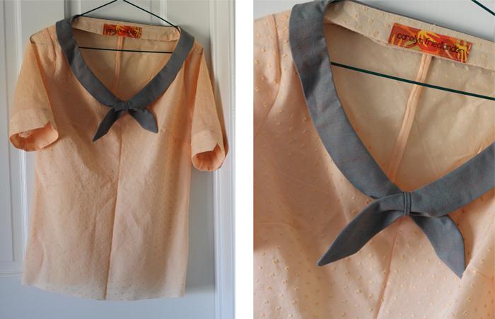 peach colette shirt