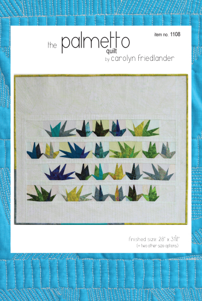 palmetto quilt pattern front cover