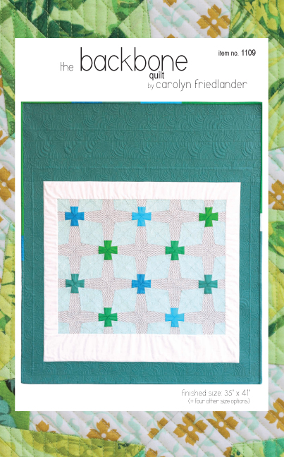 backbone quilt pattern front cover