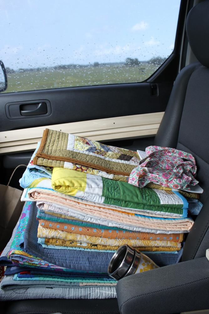 quilts riding shotgun