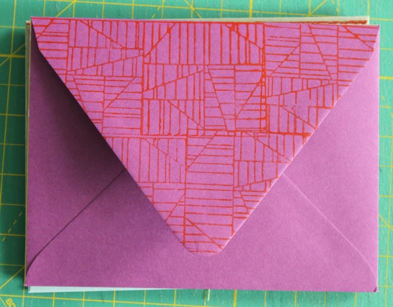 aerial envelope purple red carolyn friedlander