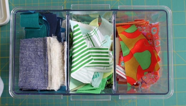 ikea scrap fabric storage