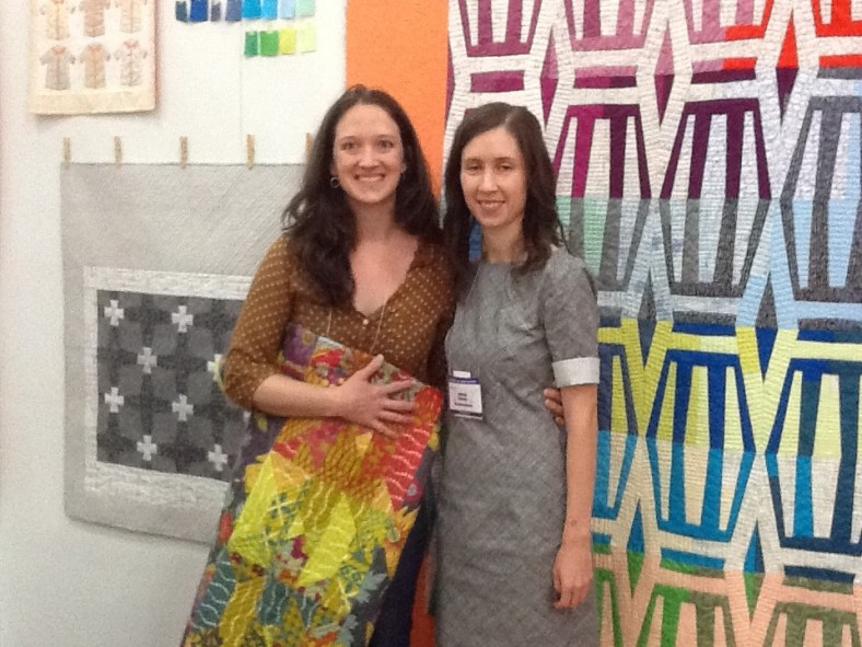 me and Alison at Houston Quilt Market 2012