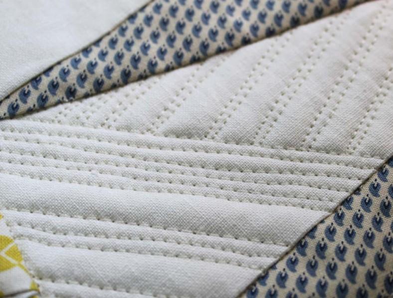 quilting on essex linen