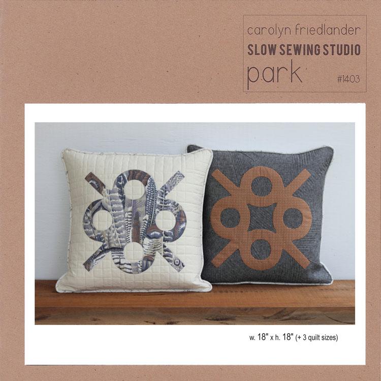 park front cover_carolyn friedlander_slow sewing studio