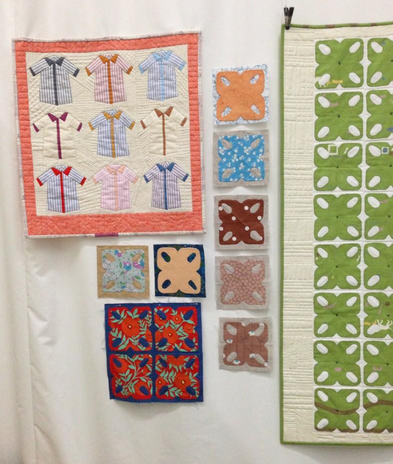alturas quilt tiles and shirts quilt_carolyn friedlander