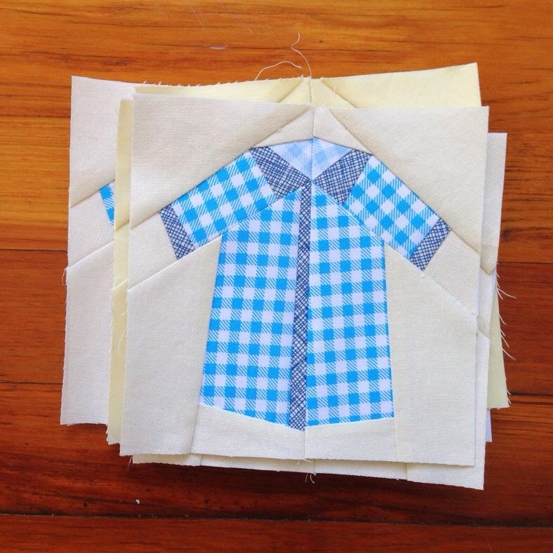 blue shirt quilt block_carolyn friedlander