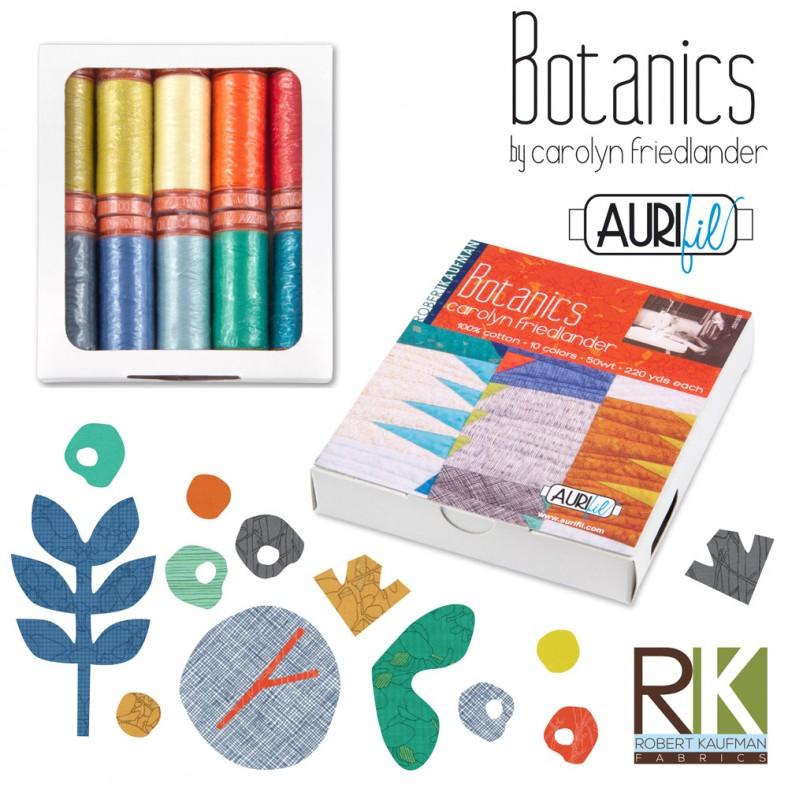 Botanics Aurifil thread set_small_carolyn friedlander
