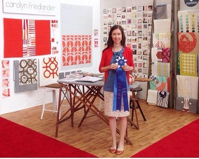 Carolyn Friedlander_booth award_Spring 14 Market