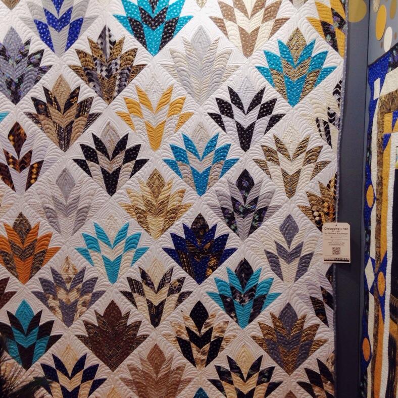 amazing quilt at Robert Kaufman booth