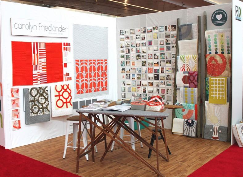 carolyn friedlander_spring 2014 quilt market booth