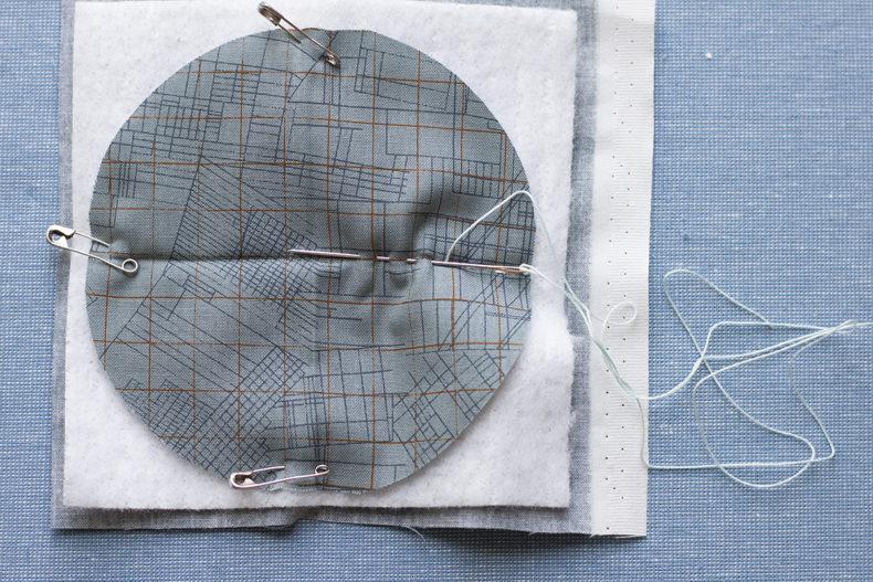 big stitch coasters tutorial-stitch layers . carolyn friedlander