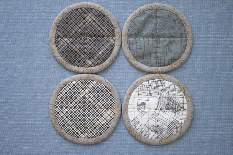 big stitch coasters in collection CF . carolyn friedlander