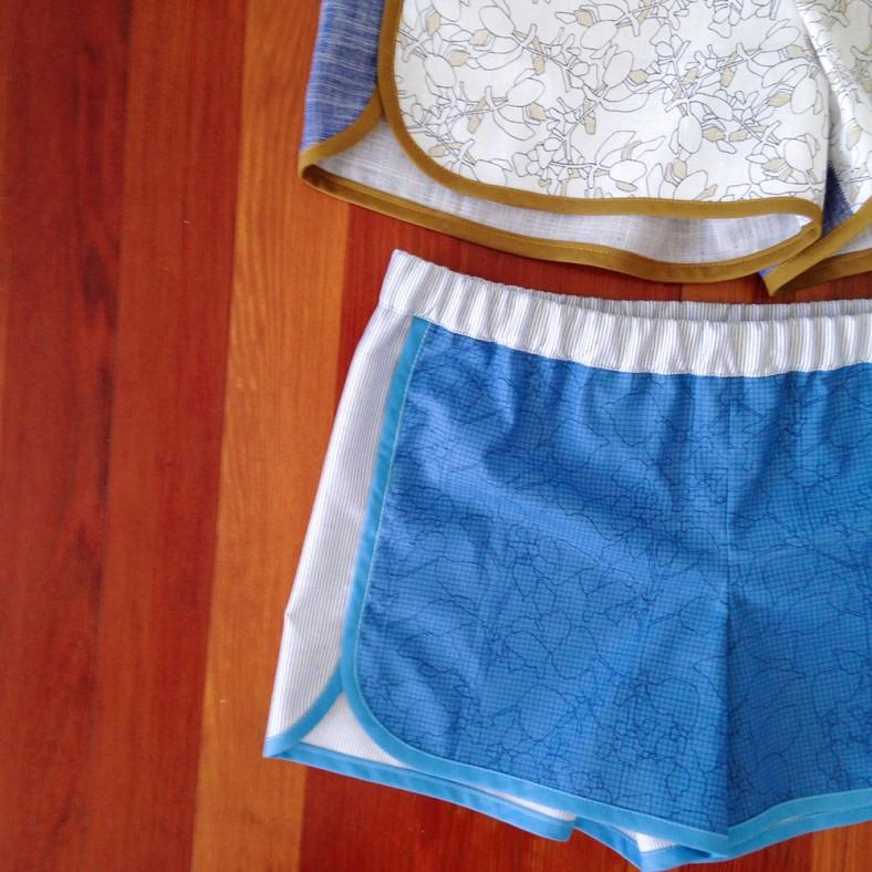 city gym shorts_botanics white and blue_carolyn friedlander