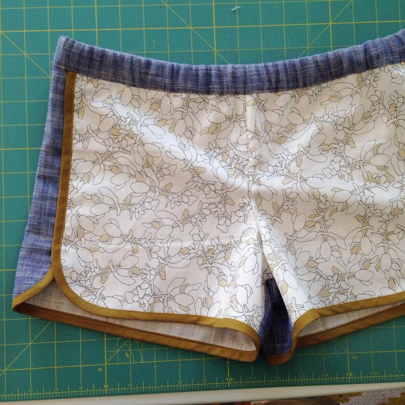 city gym shorts_botanics white_carolyn friedlander