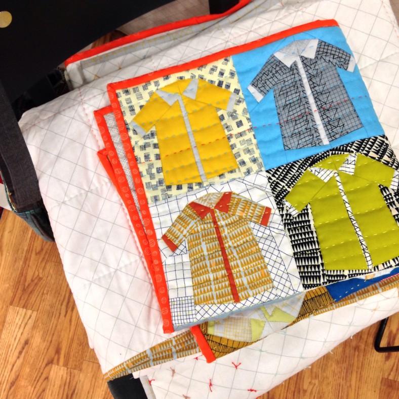 Shirts quilt in Doe fabric_Carolyn Friedlander