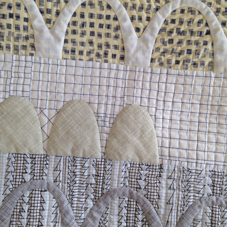catenary quilt in doe fabric by carolyn friedlander