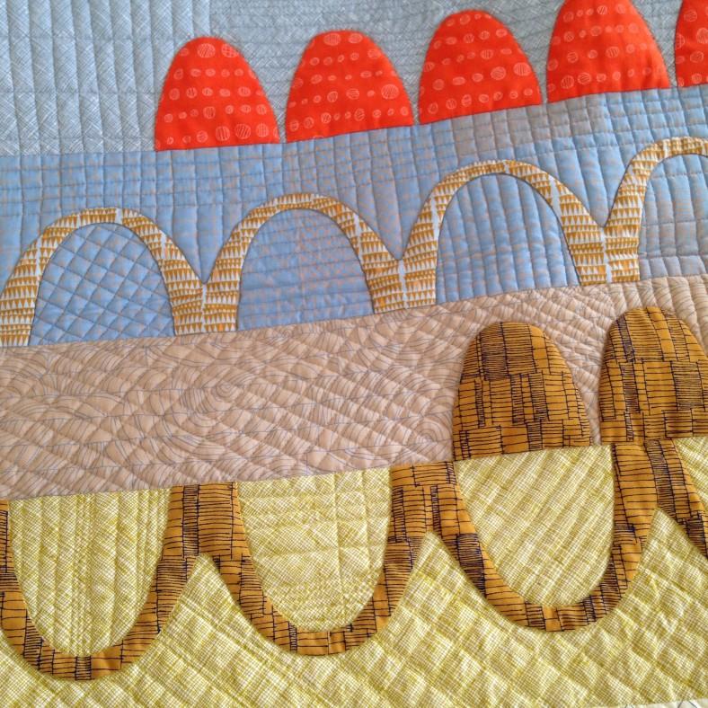 catenary quilt by carolyn friedlander in doe fabric