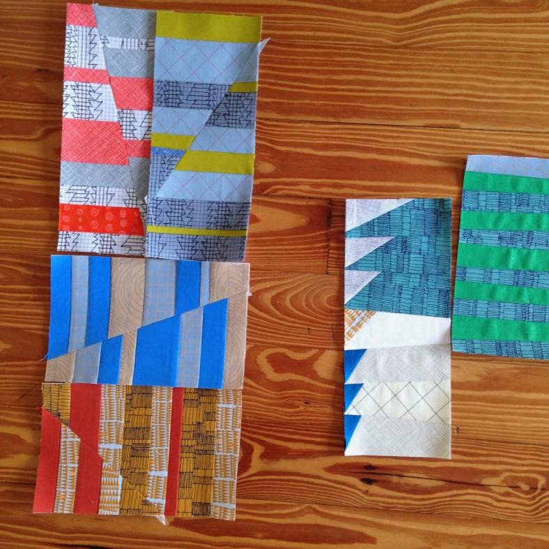 carolyn friedlander blocks in doe fabric