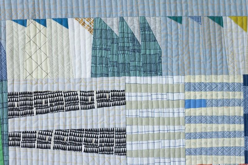 doe couch quilt_aerial totem focal detail 3_carolyn friedlander