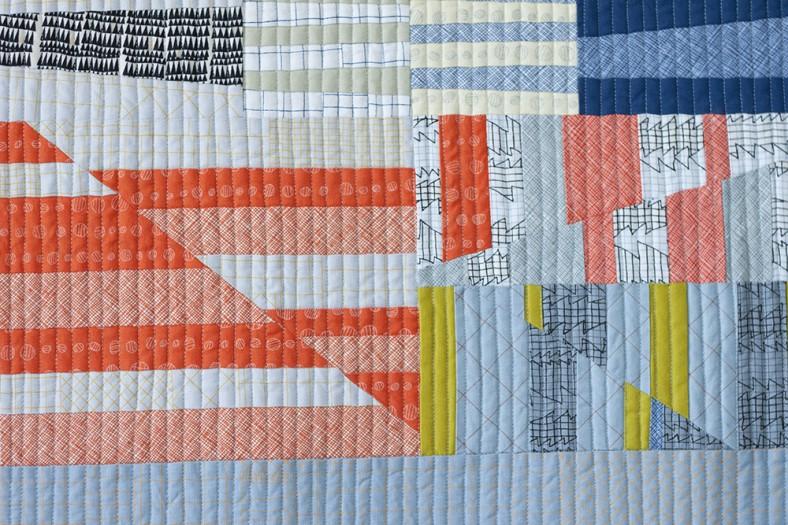 doe couch quilt_aerial totem focal detail 4_carolyn friedlander