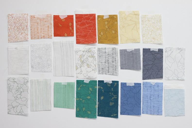 botanics fabric swatches_carolyn friedlander