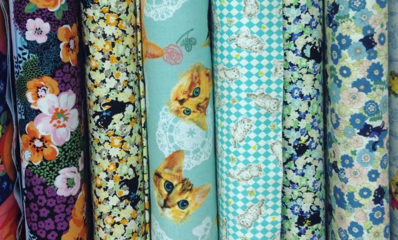 cat fabric at Bunnys in Austin