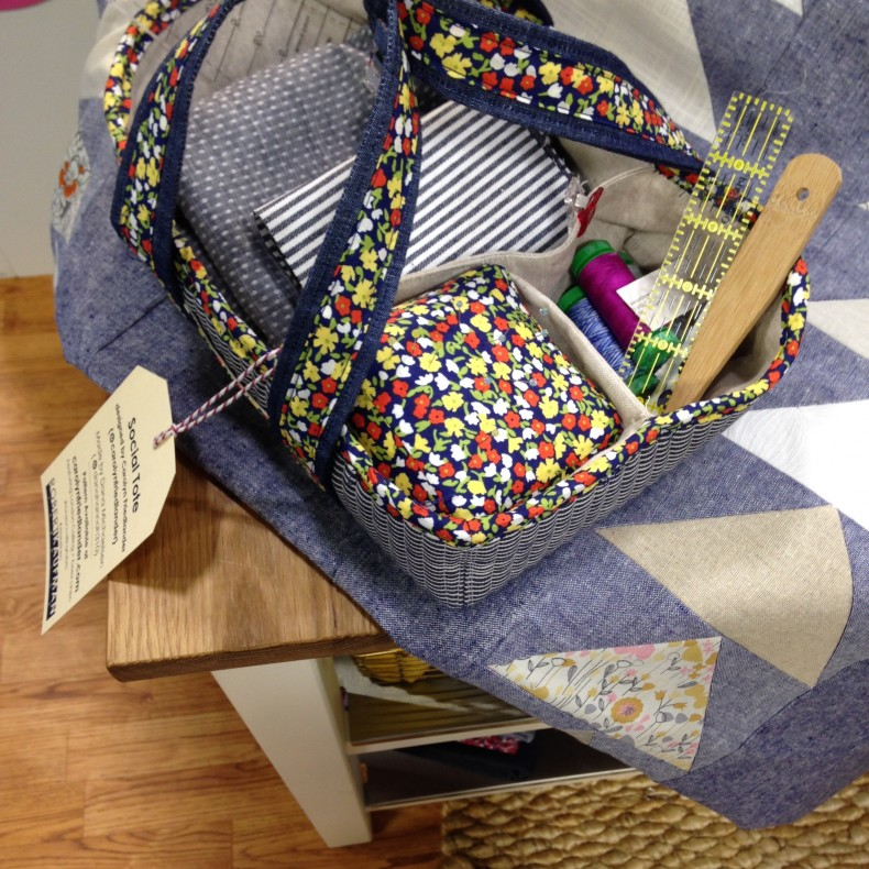 Social Tote in Robert Kaufman fabric at Quilt Market 2015
