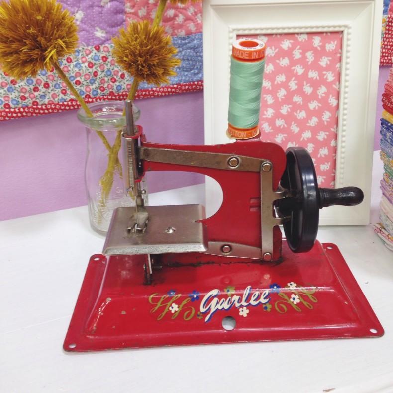 Little vintage sewing machine