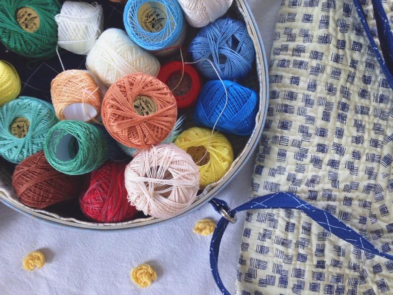 big stitch supplies in a nest egg tote_carolyn friedlander
