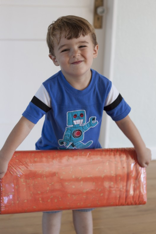 picking fabric with Jacob_Carolyn Friedlander