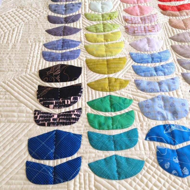 Carolyn Friedlander Ebb quilt . quilting