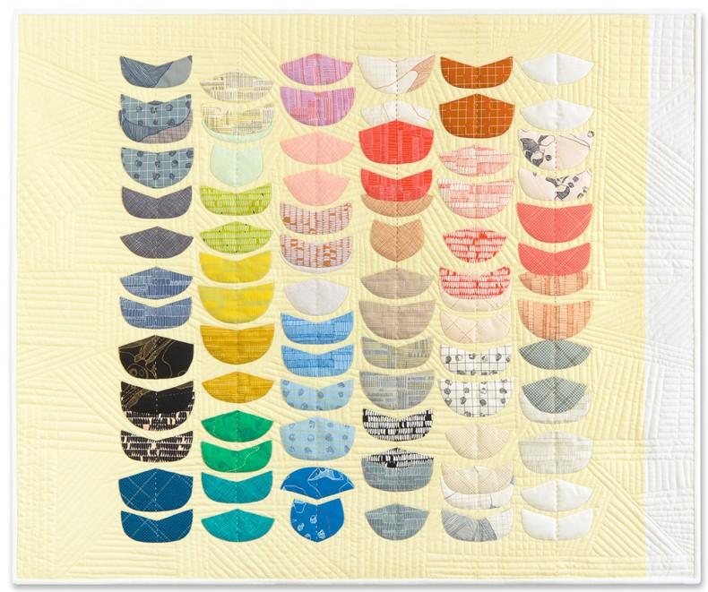 Ebb quilt . Carolyn Friedlander . Carkai fabric