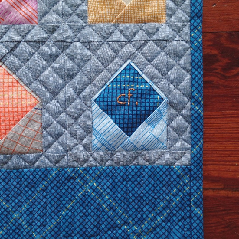 Envelopes quilt initial_Carolyn Friedlander