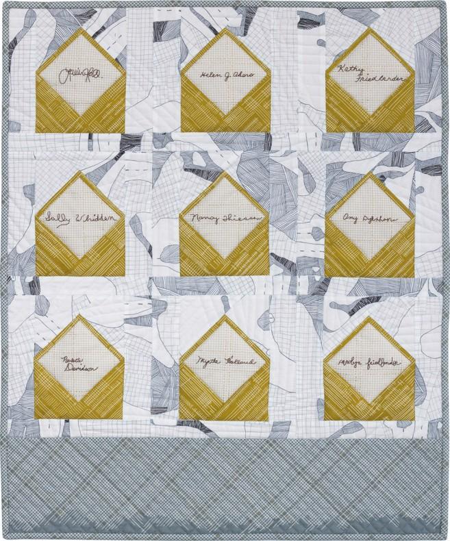 Envelopes quilt big signature . carolyn friedlander