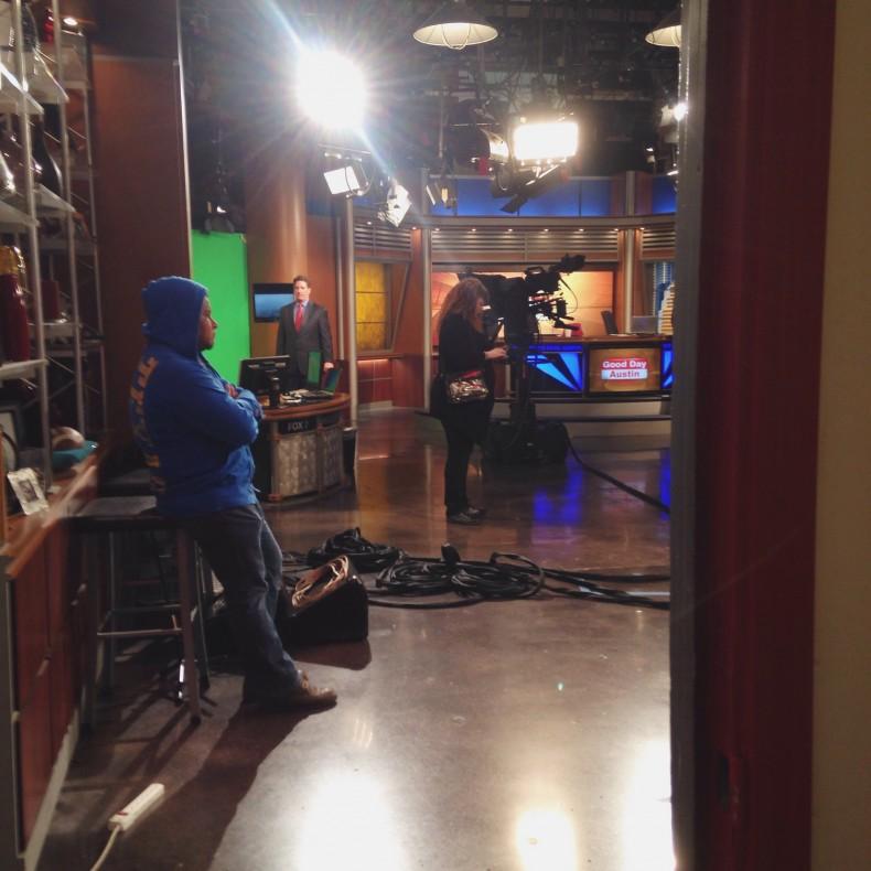 in the studio for Austin Fox 5
