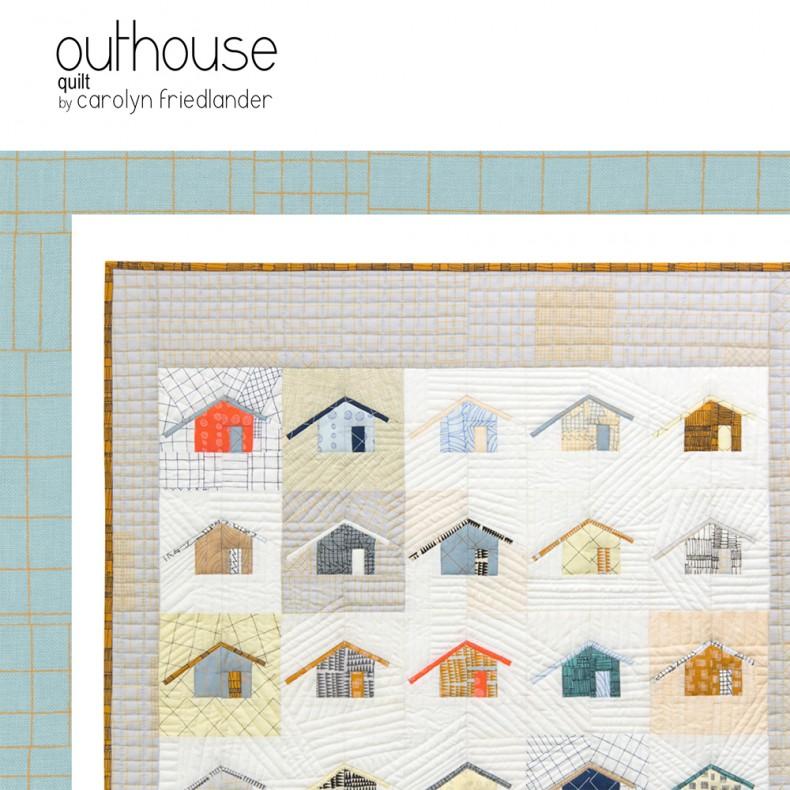 outhouse quilt pattern PDF . carolyn friedlander