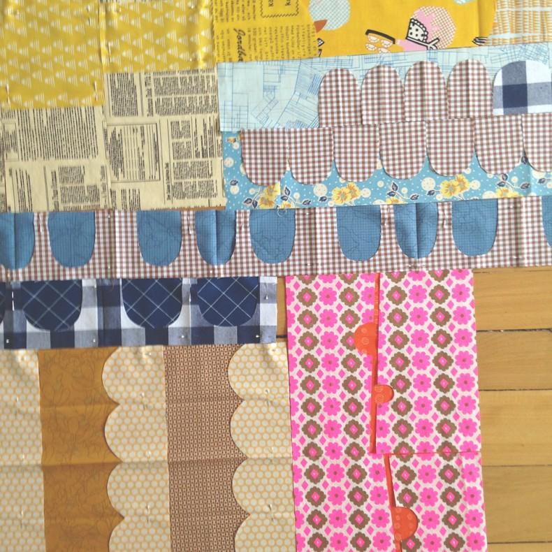 a scrappy collection quilt . carolyn friedlander