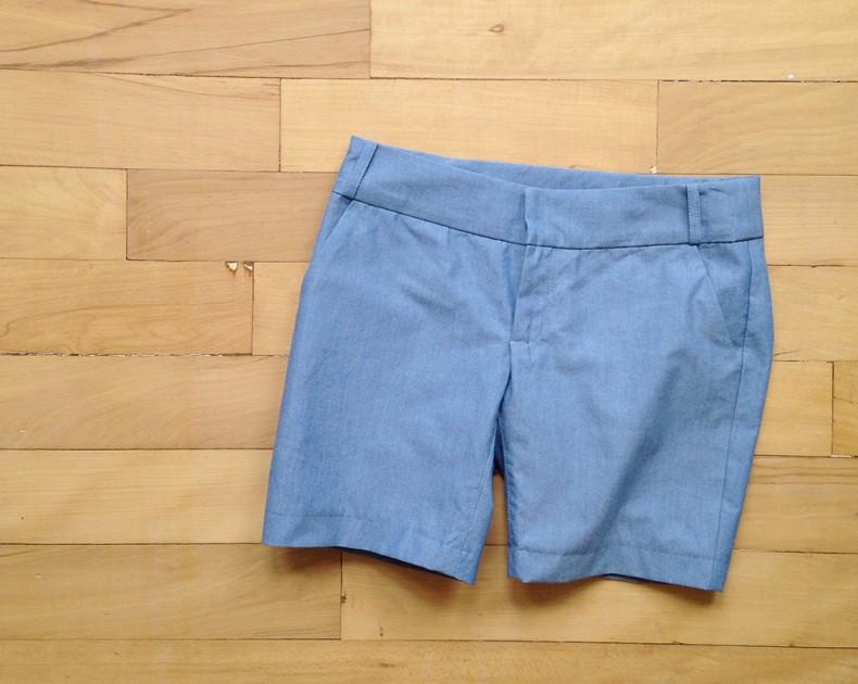 chambray shorts . carolyn friedlander