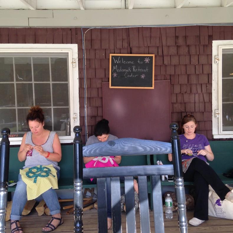 Slow Stitching Retreat in Maine . carolyn friedlander