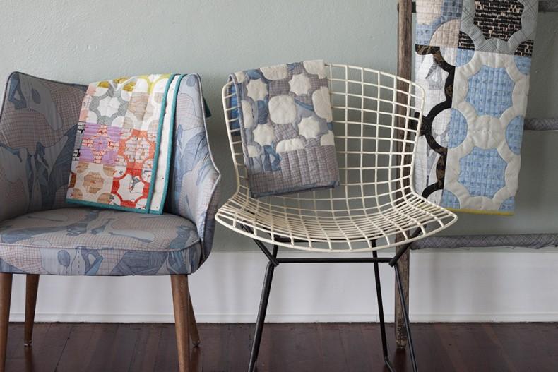 everglade mini quilts in carkai fabric . carolyn friedlander