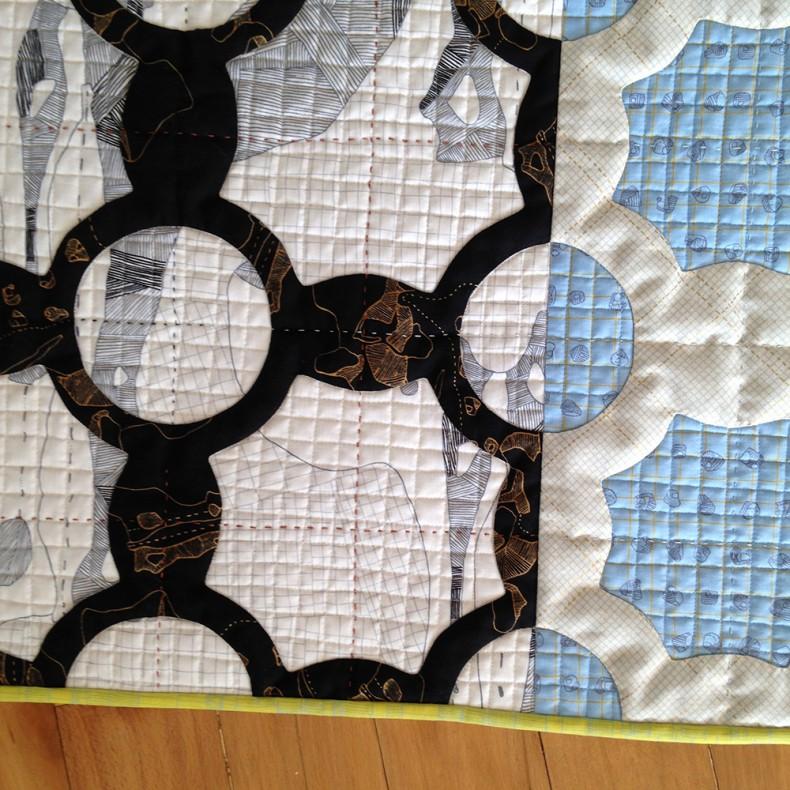 everglade quilt in carkai fabric . carolyn friedlander