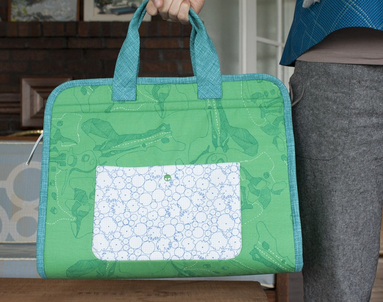 Green Maker's Tote . Carolyn Friedlander