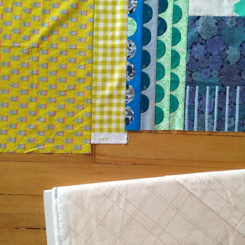 scrappy collection quilt borders. carolyn friedlander