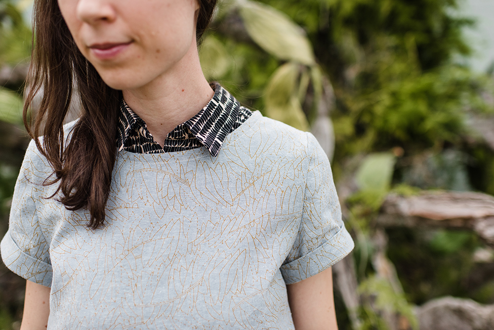 Euclid Fabric . Inari Tee Dress . Carolyn Friedlander