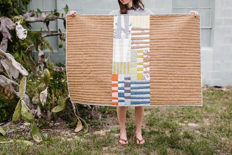Totem Quilt in Euclid Fabrics . Carolyn Friedlander