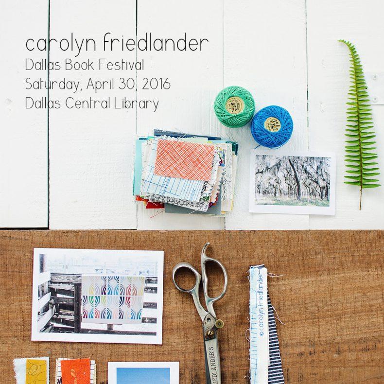 Carolyn Friedlander_Dallas Book Festival
