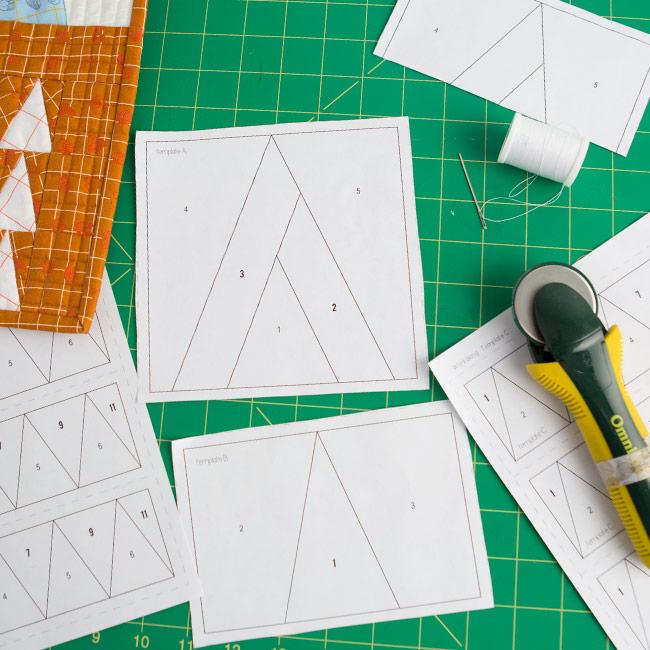 Paper Pieced Quilt Class on Creative Bug . Carolyn Friedlander